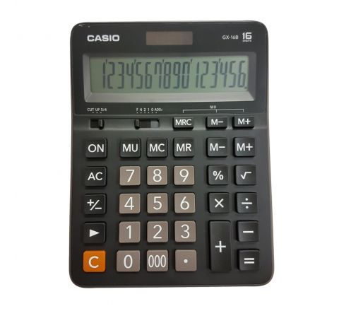CASIO GX 16S/16B, 16 DIGIT CALCULATOR