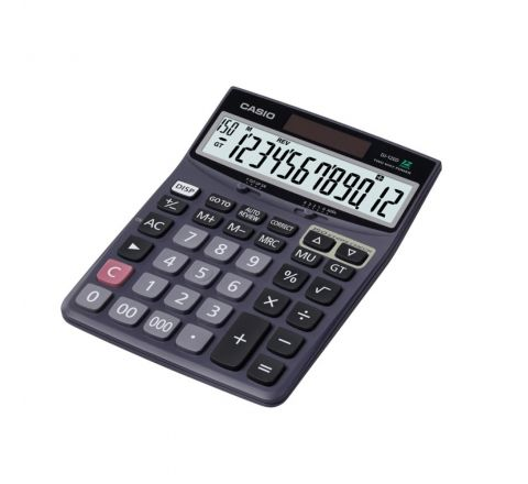 CASIO DJ-120D, 12 DIGITS CHECK CALCULATOR, SILVER COLOUR
