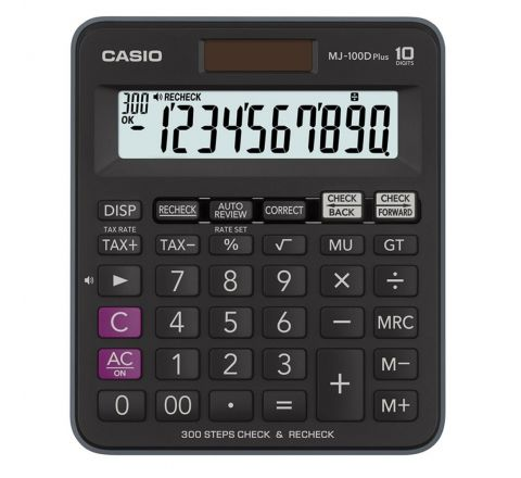 CASIO MJ-100D PRACTICAL CALCULATOR, 10 DIGITS DISPLAY