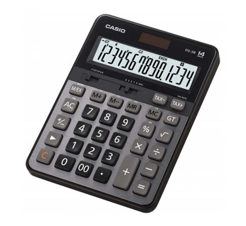 CASIO DS-3TS/DS-3B DESKTOP CALCULATOR, 14 DIGITS