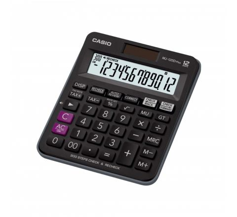 CASIO MJ-120D PLUS PRACTICAL CALCULATOR, 12 DIGITS DISPLAY