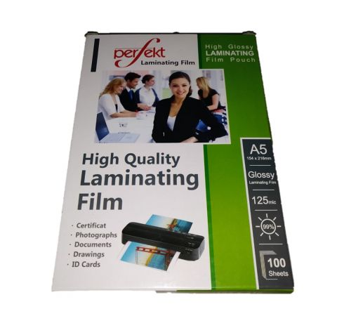 LAMINATING POUCH, A5 SIZE, 125MICRON, 100 PCS IN A PACKET