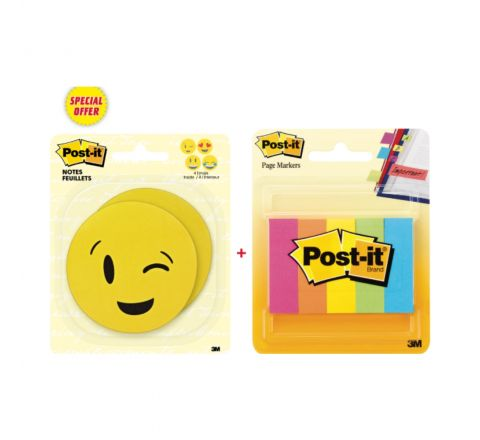 3M EMOJI STICKER WITH 5 COLOR PAGE MARKER
