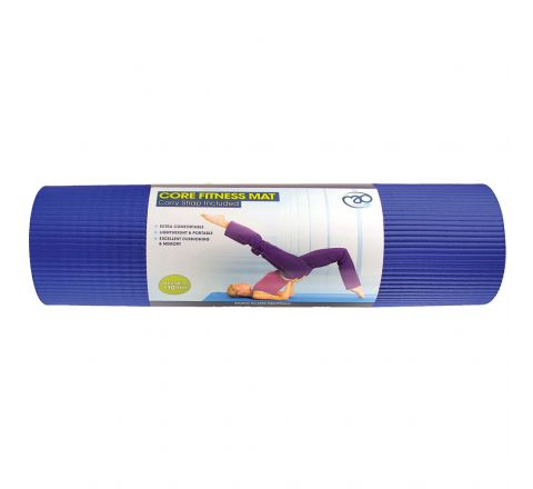 Core Fitness Mat  10Mm, Blue, Without Eyelets