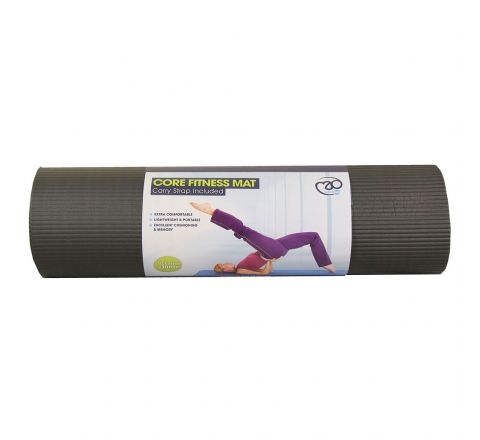 Core Fitness Mat  10Mm, Black, Without Eyelets