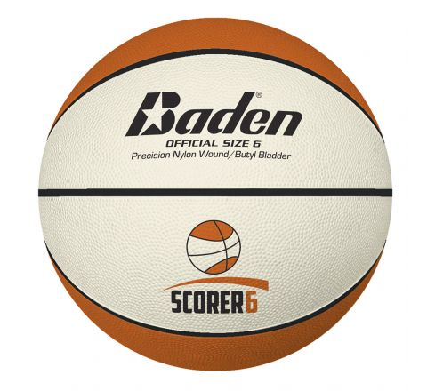 Baden Scorer Basketball  Size 6 - Br426, Tan/Cream