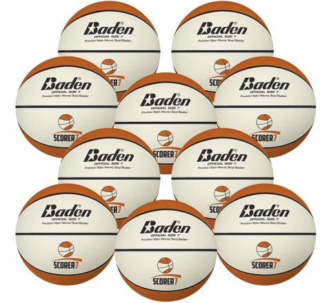 Baden Scorer Basketball  Size 7 - Br427, Bag Of 10