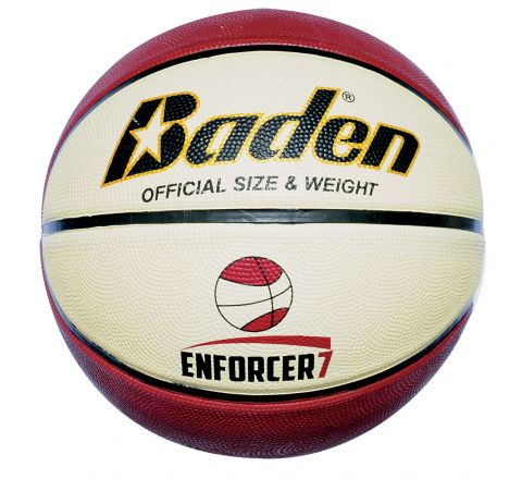 Baden Enforcer Basketball  Size 7, Tan/Cream