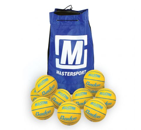 Baden All Star Basketball  Size 4, Bag Of 10, Yellow
