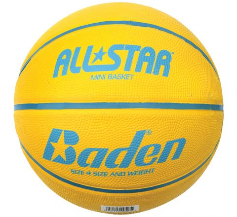 Baden All Star Basketball  Size 4, Yellow
