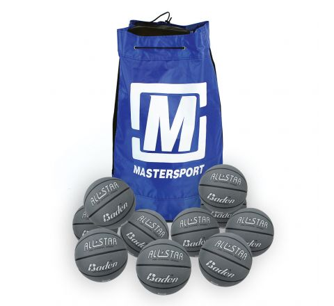 Baden All Star Basketball  Size 5, Bag Of 10, Silver