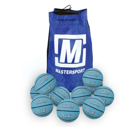 Baden All Star Basketball  Size 6, Bag Of 10, Blue