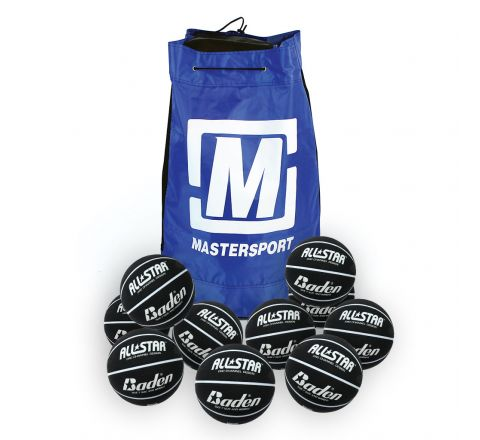 Baden All Star Basketball  Size 7, Bag Of 10, Black And White