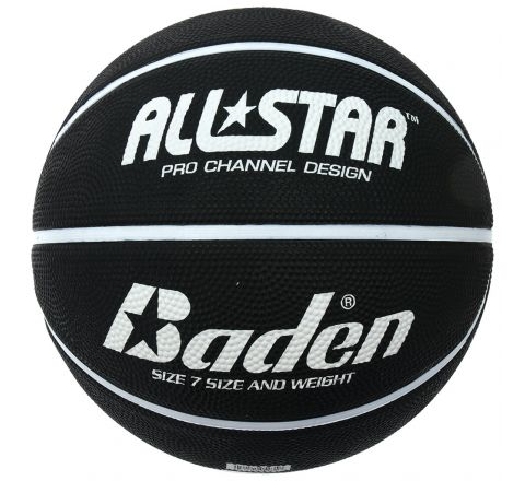 Baden All Star Basketball  Size 7, Black And White