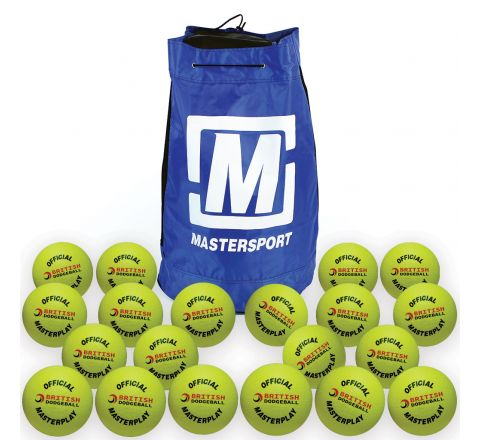 Official British Dodgeball Masterplay Foam Dodgeball 150Mm, Mixed Colours, Bag Of 20