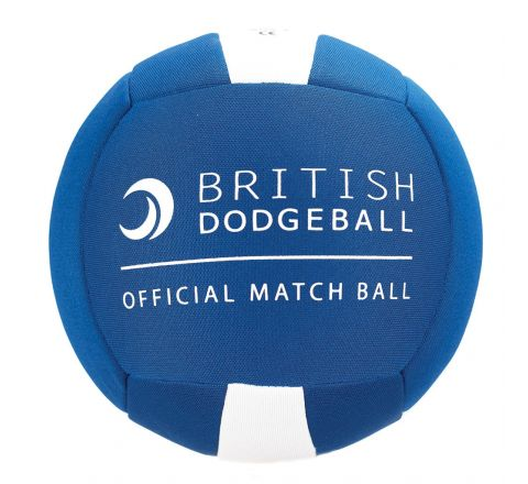 Official British Dodgeball Match Ball  Size 2, Blue And White