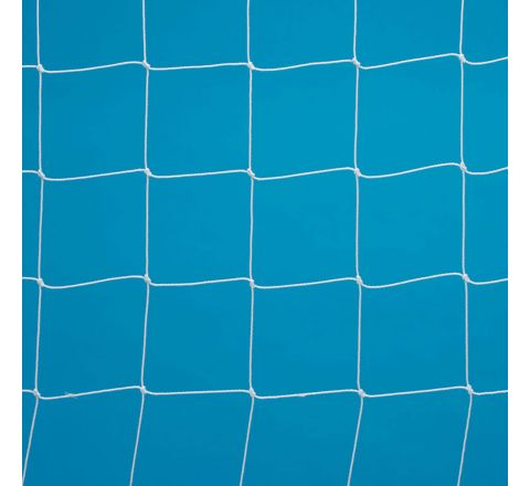 9V9 Football Goal Net 0.4-2.3M Runback White, 3Mm, 4.88 X 2.13M, Pair