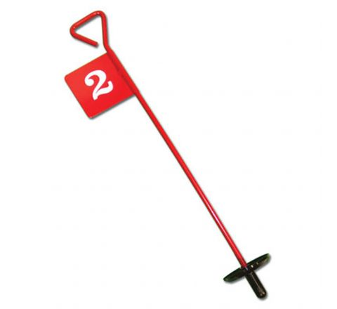 Back Saver Type Metal Golf Flags Numbered   10-18
