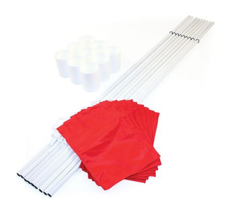 Hole Cups, Flags And Staffs Set  Red