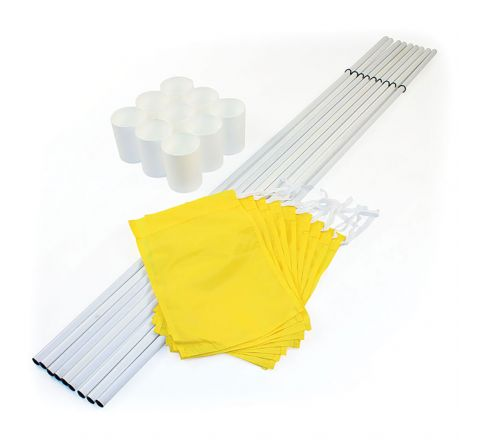 Hole Cups, Flags And Staffs Set  Yellow