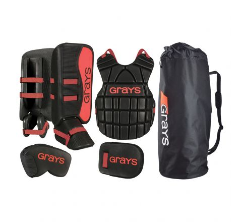 Grays Hockey G90 Junior Goalie Set  Black / Red