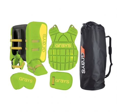 Grays Hockey G90 Junior Goalie Set  Lime / Neon Yellow