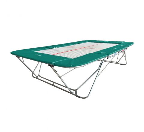 77a trampoline with 13mm web bed and fixed height rollerstands, Aqua Color