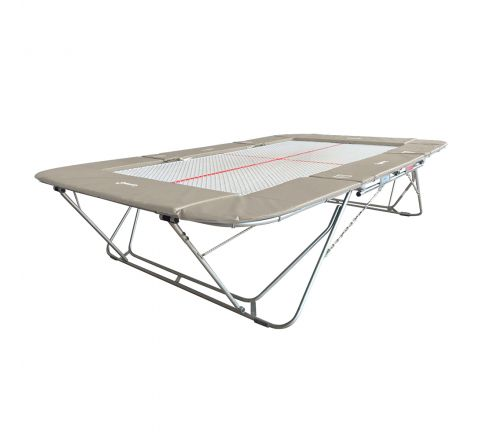 77a trampoline with 13mm web bed and fixed height rollerstands, Light-Grey Color