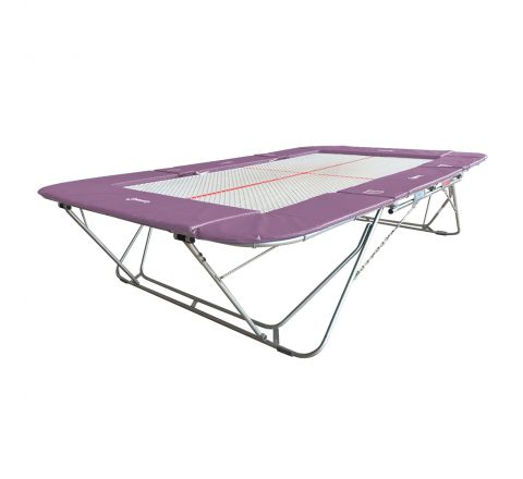 77a trampoline with 13mm web bed and fixed height rollerstands, Lilac Color