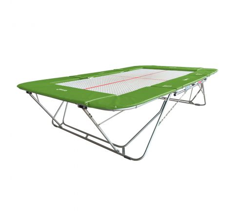 77a trampoline with 13mm web bed and fixed height rollerstands, Light-Green Color