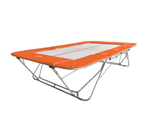 77a trampoline with 13mm web bed and fixed height rollerstands, Orange Color