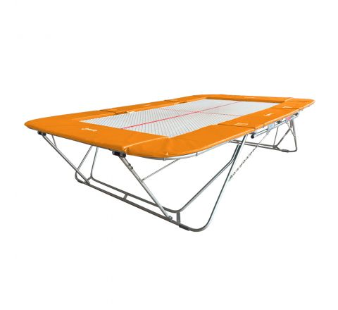 77a trampoline with 13mm web bed and fixed height rollerstands, Orangina Color
