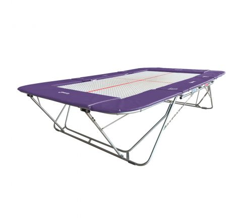 77a trampoline with 13mm web bed and fixed height rollerstands, Purple Color