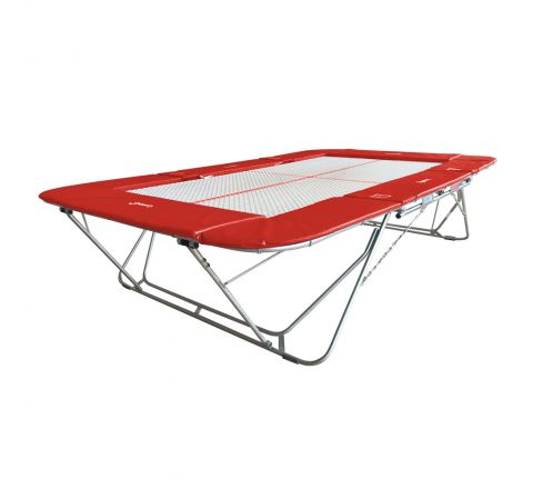 77a trampoline with 13mm web bed and fixed height rollerstands, Red Color