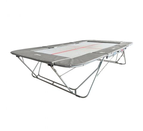 77a trampoline with 13mm web bed and fixed height rollerstands, Silver Color