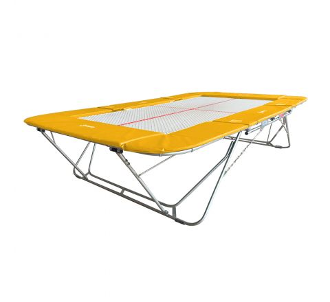 77a trampoline with 13mm web bed and fixed height rollerstands, Yellow Color