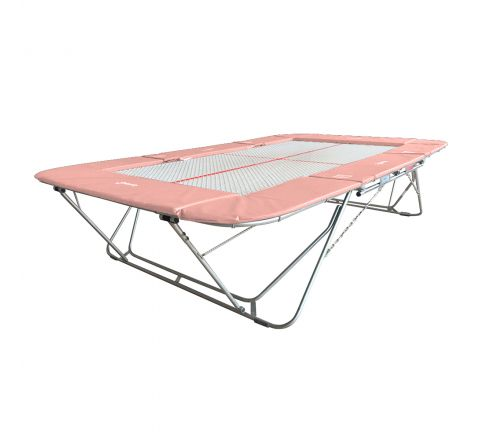 77a trampoline with 13mm web bed and lift/lower rollerstands, Baby-Pink Color