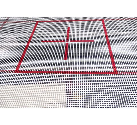 6x4mm web bed for Goliath trampoline