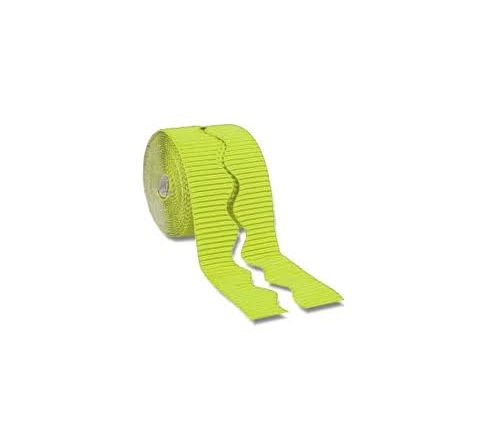 Bordette Scalloped - Lime, 57Mm X 15M