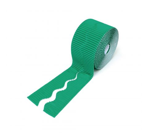 Bordette Scalloped - Emerald, 57Mm X 15M