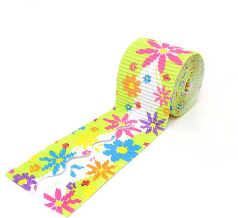 Bordette Designs Border Roll - Spring Flowers, 57Mm X 7.5M