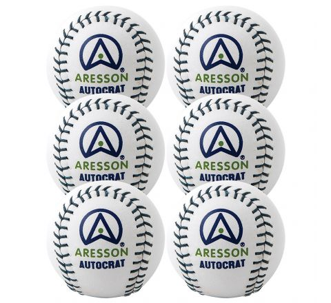 Aresson Autocrat Rounders Ball  White, Set Of 6
