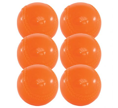 Aresson All Play Soft Indoor Rounders Ball   Orange, Set Of 6