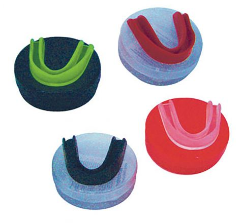 Boil And Bite Mouthguard  Senior, Red, Set Of 12