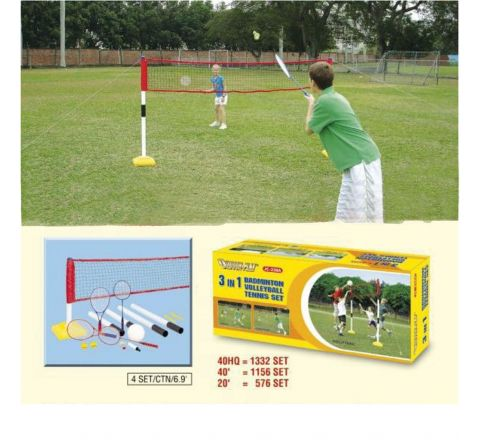 3 In 1 Pole And Net Set With Accessories