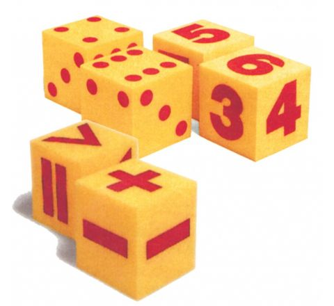 Giant Soft Dice, Mathematical Operation, Spot And Number Dice Set Of 6