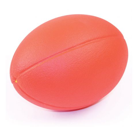 Coated Foam Rugby Ball  235Mm, Red