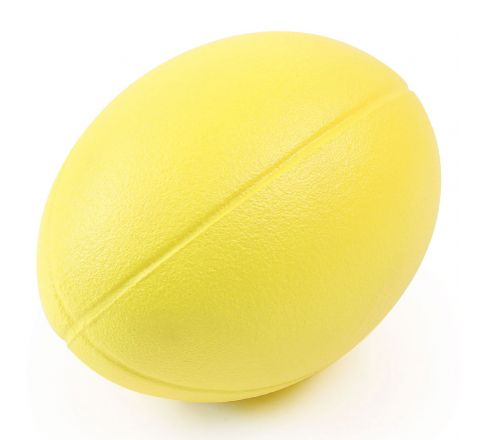 Coated Foam Rugby Ball  235Mm, Yellow