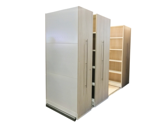 Mbox customisable office storage solutions in wood panel