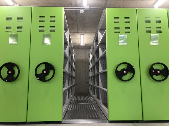 Mobile shelving office storage solutions
